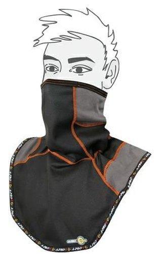 A-pro srl copricollo protezione vento salvagola termico cervicale passamontagna antivento moto sport grigio nero
