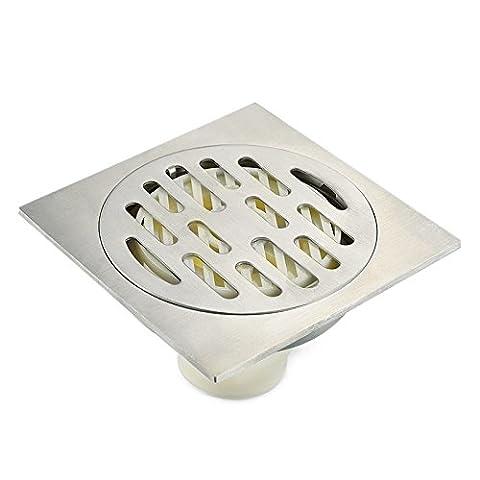 Khskx-stainless Acier machine à laver dédié quatre Anti-bathroom déodorants Anti-blindly Retour d'eau des Égouts Sol Leakage-10* 10CM