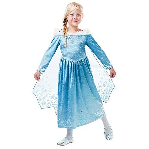 inder Gr 104-164 Mädchen Jungen Fantasy Fasching Karneval Cosplay Unisex: Farbe: Frozen ELSA Deluxe| Größe: 116 (M) ()