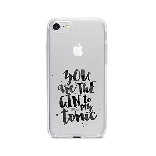 licaso Apple iPhone 8 Handyhülle Smartphone Apple Case aus TPU mit You Are The Gin to My Tonic Love Print Motiv Slim Design Transparent Cover Schutz Hülle Protector Soft Aufdruck Lustig Funny Druck