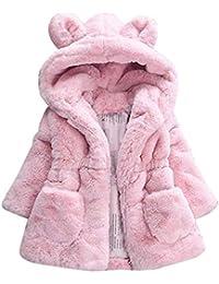 JiaMeng Ropa de Abrigo Gruesa con Capucha de Capa de Abrigo de Invierno de otoño Infantil Gruesa de Moda para niños Abrigo Grueso