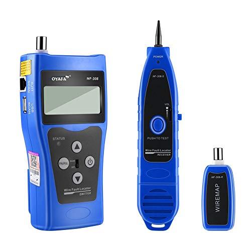 Preisvergleich Produktbild GailMontan Noyafa NF-308 Multifunktions-LCD-Display Netzwerkkabeltester Line Finder - blau