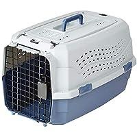 AmazonBasics Transportbox für Haustiere, 2 Türen, 1 Dachöffnung, 58cm