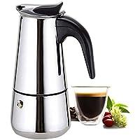 Cafetera 6 Tazas Café Espresso Italiano Mocha por Kurtzy - Mejor Cafetera Acero Inoxidable Pulido con Filtro Permanente y Asa Resistente al Calor - Perfecta para Uso Doméstico y en la Oficina