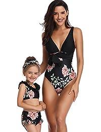 Kleinkind UPF 50 Schnell trocknender Rock Badeanzug Taucheranzug Stern Streifen Baby M/ädchen Floral Langarm Bademode