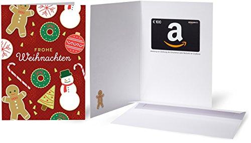 Amazon.de Grußkarte mit Geschenkgutschein - 100 EUR (Weihnachtsplätzchen Grußkarte)