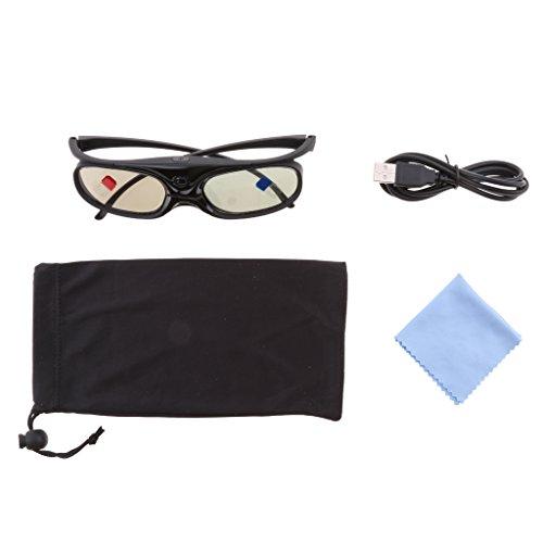 Sharplace Gafas 3D Proyectores DLP-LINK Obturador
