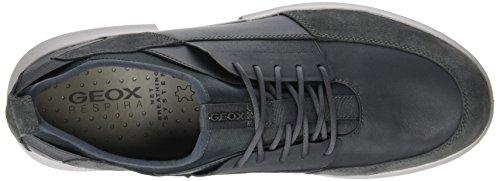 Geox U Trace A, Baskets Basses Pour Homme Gris (dk Gris)