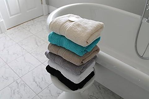Cazsplash Organic Cotton 650gsm High Quality Hand Towels (Cream)