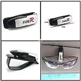 Car Type R Visor Sunglass Clip Holder-White ForMistubushi Lancer