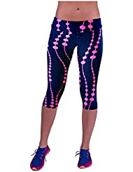 Fami High-waist Fitness Yoga Sport Pantalons Imprimé Stretch Leggings Cropped