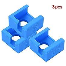 Aibecy MK9 Hotend siliconen sokken blok siliconen beschermhoes compatibel met Creality Ender 3 Ender 3 Pro Ender 5 CR-10 10 S S4 S5 Anet A8 3D-printer (3 stuks) blauw