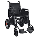 EMOGA Electric Powered Wheelchair Folding Lightweight,Motorized Wheelchairs Mobility Scooter Convenient For Home And Outdoor Use,Seat Width 18 Inch