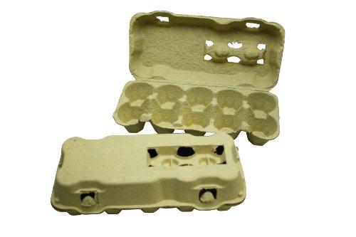 85 Stück 10er Eierschachteln ohne Aufdruck gelb