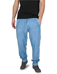 "Urban Classics Jogginghose ""Spray Dye Sweatpants"", Größe: L, Farbe: skyblue"
