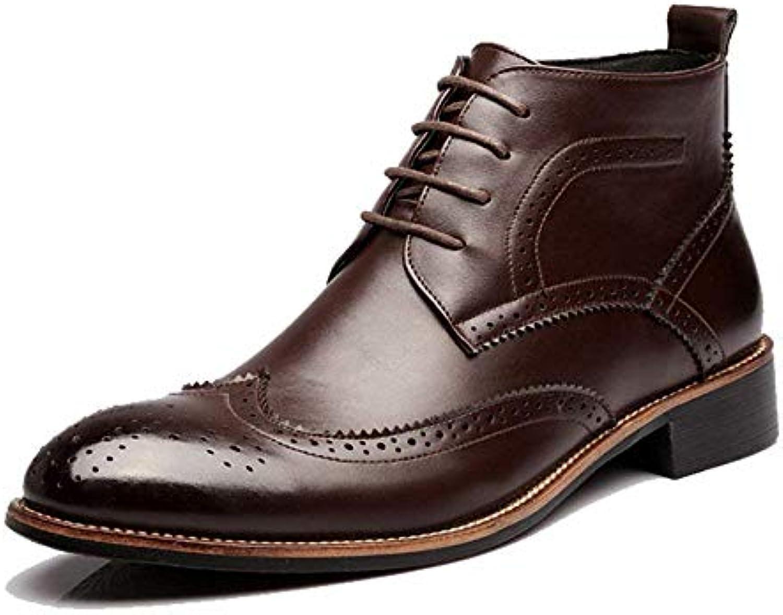 Stivali da uomo, scarpe da ascensore Brogue Stivaletti alti oxford traspiranti Wingtip, 1    (2,5 cm) Soletta... | Usato in durabilità  | Sig/Sig Ra Scarpa