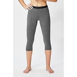 super.natural Damen Funktions-Unterhose, 3/4 Länge, Mit Merinowolle, W BASE 3/4 TIGHT 175