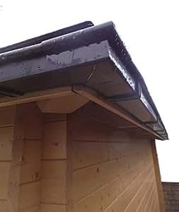 Dachrinnen Set RG 70 braun 300 cm zweiseitig