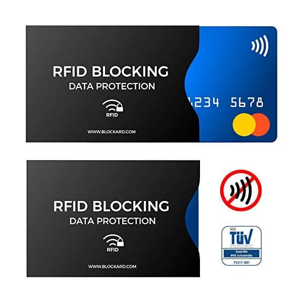 RFID Blocking NFC Custodia protettiva (12 pezzi) per carta di credito, carta bancomat, carta d'identità, passaporto… 2 spesavip