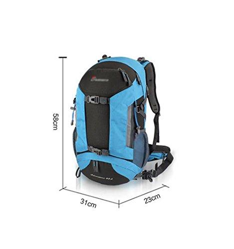 HWLXBB Outdoor Bergsteigen Tasche Männer und Frauen 45L Wasserdichte Mehrzweck-Bergsteigen Tasche Wandern Camping Bergsteigen Freizeit Rucksack Rucksack 2*