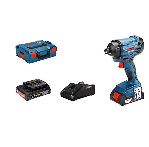 Bosch Professional Visseuse A Chocs GDR 18V-160 (18V, 2 batteries 2,0 Ah, Couple maxi : 160 Nm, L-BOXX)