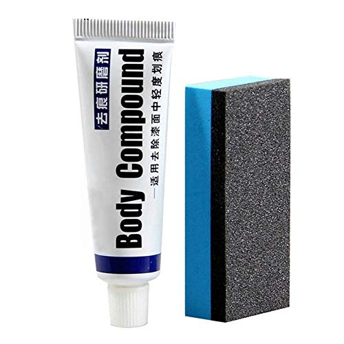 CHOULI Car Scratch Repair Kit Auto Body Compound Polishing Grinding Paste Paint Care White&Blue (Auto Paint Kit)