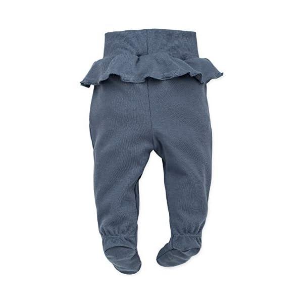 Pinokio - Petit Lou - Pantalones de Bebé Niñas/Pantalón de Mameluco recién Nacido - Azul Rosa- 100% Algodón durmientes… 2