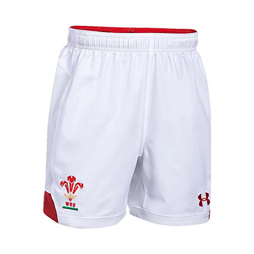 Wales Rugby WRU Supporters Short 17/18-WHT (Shorts T-shirt Armour Under)