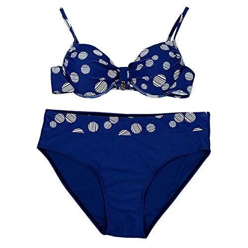 XuxMim Frauen Sommer Mode Dot Print Bademode Beachwear Siamese Badeanzug Bikini Set