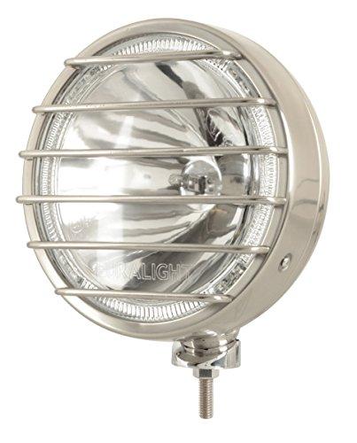 Faro Euralight 211mm con luce posizione LED 12Volt e frana griglia di protezione in acciaio