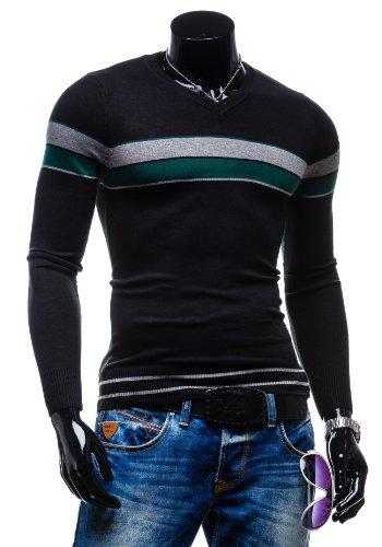 BOLF - Pull - Tricot - X&J J002 - Homme Noir