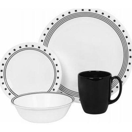 corelle-16-piece-vitrelle-glass-city-block-chip-and-break-resistant-dinner-set-service-for-4-black