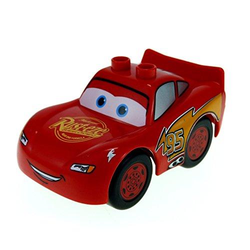 1 x Lego Duplo Auto Disney Cars rot Lightning Mc Queen Rust-Eze 88765pb01 (Lightning Duplo)