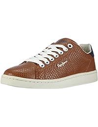 Pepe Jeans - zapatillas deportivas de poliuretano mujer, color marrón, talla 37.5