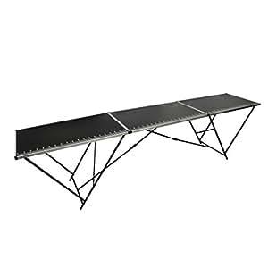 vidaXL Table à tapissier en aluminium et acier