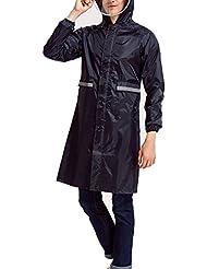 Babysbreath Impermeable Impermeable Mujeres Hombres Pareja Impermeable Trench Coat Rain Capa Rainwear Gear Rain Rain azul XL