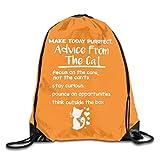 Drempad Tunnelzug Rucksäcke, Drawstring Shoulder Bag Advice from The Cats Bundle Pocket Outdoor Knapsack Sport Gym Backpack