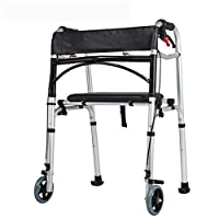 Rventric Wheel Rollator Walker Hand Brake Shower Chair Seat,Cane Holder Height Adjustable Folding For Arthritis/Lumbar Muscle Strain/Knee Joint Damage/Soft Tissue Damage
