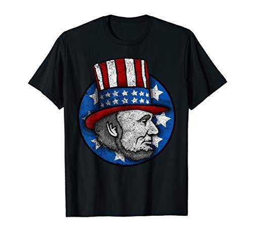 Lincoln Merica Flagge für Männer Abraham T-Shirt ()