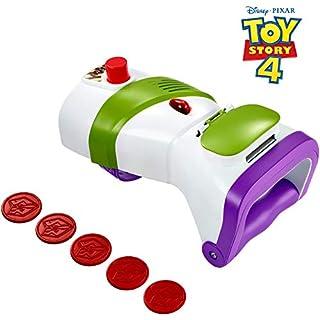 Mattel GDP85 - Disney Pixar Toy Story 4 Buzz Lightyear Wurfscheiben Blaster mit 5 Projektilscheiben, Rollenspiel Spielzeug ab 3 Jahre