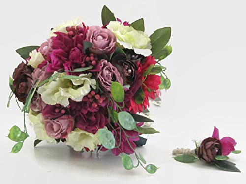 Brautstrauß Perlen Rosen Hochzeit Braut Blumen Schleier Schmuck Kirche Perlen Rosen Lilien Orchideen Schleifen Bänder Haarkranz Diadem Orchidee-band