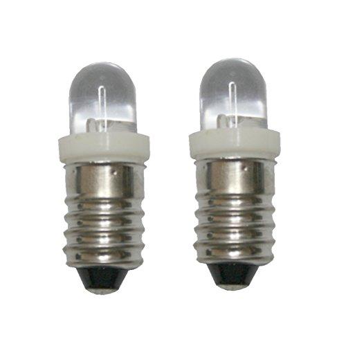 LED Glühlampe Glühbirne E10 3V weiß 2 Stück (8220)