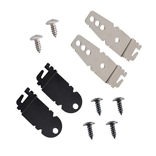 Ketofa 8212560 & 8269145 Spülmaschinen-Halterungen Clips Ersatz für Whirlpool Kenmore KitchenAid Geschirrspüler mit Schrauben