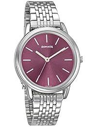 Sonata Analog Pink Dial Women's Watch-8170SM05