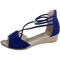 KUKI Damen Sandalen Sexy Toe Stiletto Heel Sandaletten , 003 , US7.5 / EU38 / UK5.5 / CN38