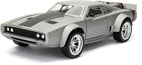 Jada Toys-Dodge Ice Charger-Dom-Fast and Furious 8-Maßstab 1:24-Grau- 98291S
