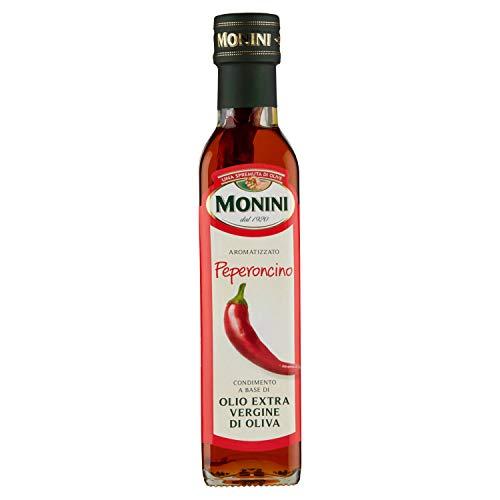 Monini aromatizzato peperoncino condimento a base di olio extra vergine di oliva - 1 bottiglia da 250 ml