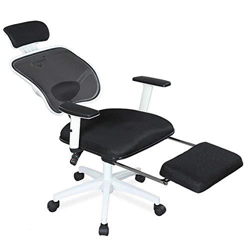 Gasgff Reclining Rotary Chair Freizeit Esports Spielcomputer Stuhl Ergonomischer Mesh-Computer Stuhl