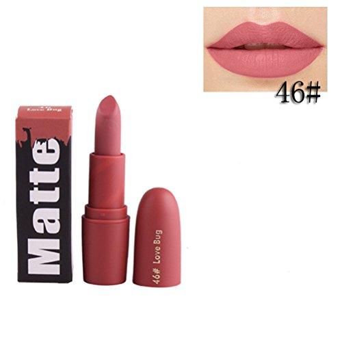 Rouge à lèvres,Lonshell Hydratant à lèvres lisses à long terme 18 Couleurs (Taille unique, 46#)