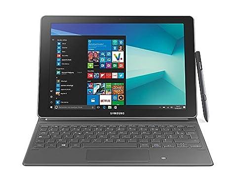 "Samsung Galaxy Book écran tactile Full HD 10,6"" Noir (Intel Core M3, SSD 64 Go, RAM 4 Go, Windows 10, Wi-Fi) + Stylet S Pen + Housse Clavier"